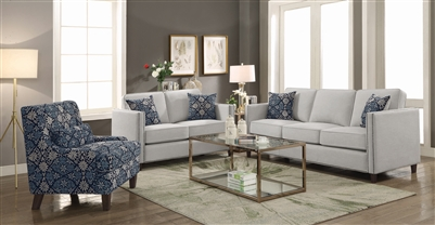 Coltrane 2 Piece Sofa Set in Putty Woven Fabric by Coaster - 506251-S