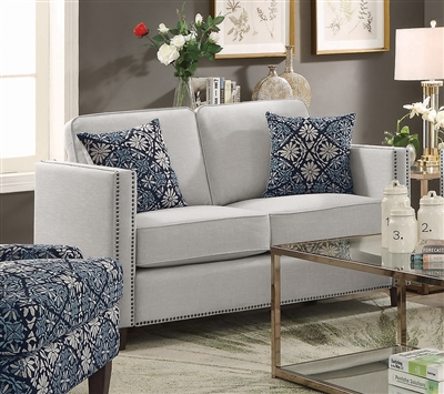 Coltrane Loveseat in Putty Woven Fabric by Coaster - 506252