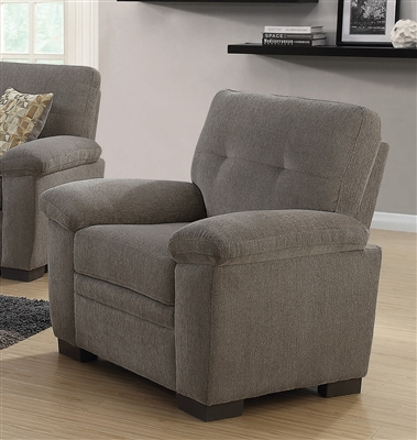 Fairbairn Chair in Oatmeal Chenille Upholstery by Coaster - 506583