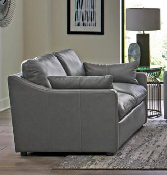 Grayson Loveseat in Grey Leather by Coaster - 506772