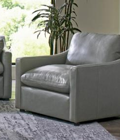 Grayson Chair in Grey Leather by Coaster - 506773