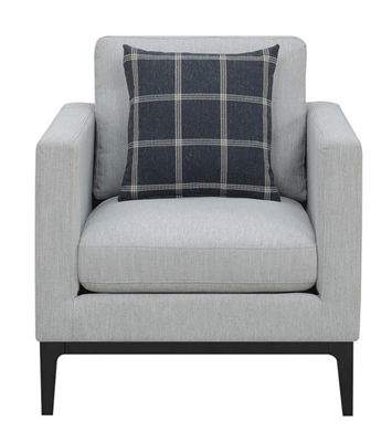 Asherton Chair in Light Grey Woven Fabric by Coaster - 508483