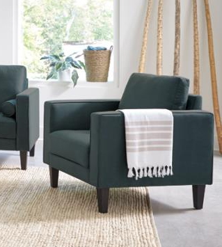 Gulfdale Chair in Dark Teal Velvet by Coaster - 509073