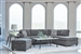 Mccord Sectional in Dark Grey Chenille Upholstery by Coaster - 509347