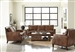 Leaton 2 Piece Living Room Set in Brown Sugar Leather by Coaster - 509441-S