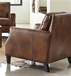Leaton Chair in Brown Sugar Leather by Coaster - 509443