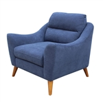 Gano Chair in Navy Blue Fabric by Coaster - 509516