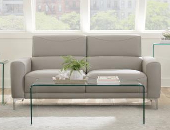 Glenmark Sofa in Taupe Leatherette by Coaster - 509731