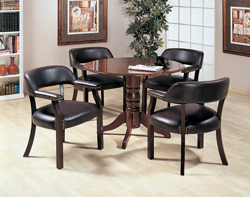 Westchester Piece Inch Round Conference Table Set In Mahogany - 42 inch round conference table