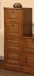 4 Drawer File Cabinet in Oak Finish by Coaster - 5318N