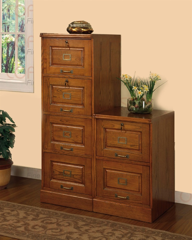 4 Drawer File Cabinet In Oak Finish By Coaster 5318n