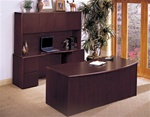 Sandoval 3 Piece Home Office Executive Set in Mahogany Finish by Coaster - 540DFP-3