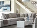 Charlotte 4 Piece Sectional in Grey Fabric Upholstery by Coaster - 551221-4