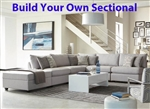 Charlotte Grey Fabric BUILD YOUR OWN Sectional by Coaster - 551221-B