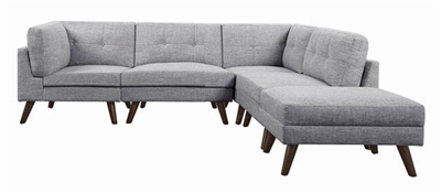 Churchill 4 Piece Modular Sectional in Grey Fabric by Coaster - 551301-04