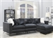 Schwartzman 4 Piece Sectional Sofa in Charcoal Velvet Upholstery by Coaster - 551391-004