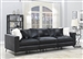 Schwartzman 3 Piece Sectional Sofa in Charcoal Velvet Upholstery by Coaster - 551391-03