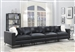 Schwartzman 4 Piece Sectional Sofa in Charcoal Velvet Upholstery by Coaster - 551391-04