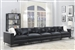 Schwartzman 5 Piece Sectional Sofa in Charcoal Velvet Upholstery by Coaster - 551391-05