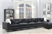 Schwartzman 6 Piece Sectional in Charcoal Velvet Upholstery by Coaster - 551391-6P