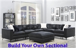 Schwartzman Charcoal Velvet Upholstery BUILD YOUR OWN Sectional by Coaster - 551391-B