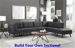 Churchill Build Your Own Modular Sectional in Dark Grey Fabric by Coaster - 551401-BYO
