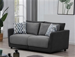 Seanna 2 Piece Sectional Loveseat in Two Tone Grey Chenille by Coaster - 551441-02
