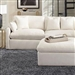 Hobson 3 Piece Sectional in Off White Linen Like Fabric by Coaster - 551451-3