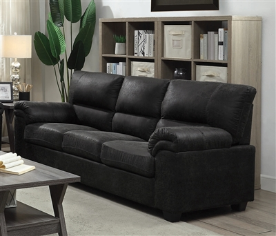 Ballard Sofa in Charcoal Microfiber Upholstery by Coaster - 552021