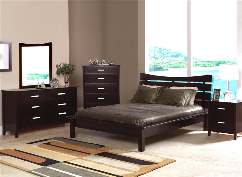 6 Piece Bedroom Set in Rich Cappuccino Finish by Coaster - 5631
