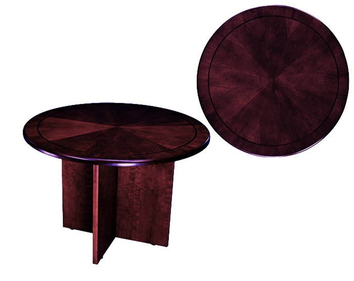 Sandoval 5 Piece 42 Inch Round Conference Table Set In Mahogany Finish By  Coaster   585 5