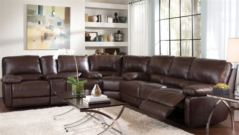& Geri Cognac Leather 3 Piece Reclining Sectional by Coaster - 600021 islam-shia.org