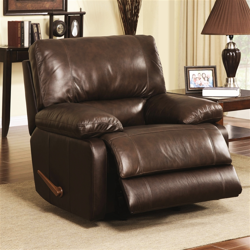& Geri Cognac Leather Rocker Recliner by Coaster - 600021R islam-shia.org