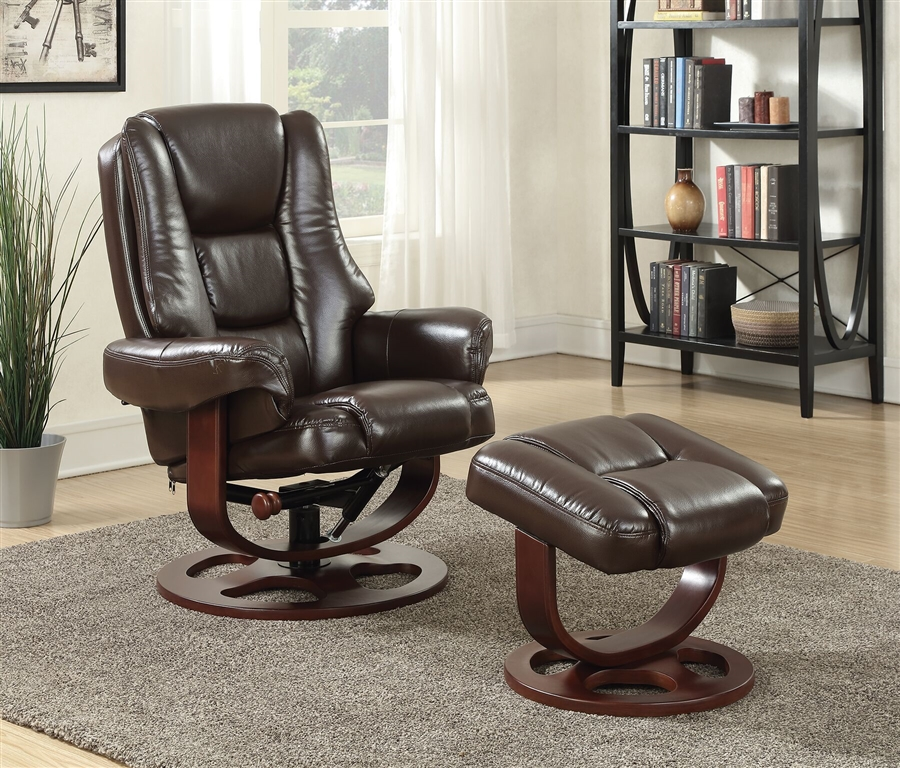 Strange Brown Glider Recliner Chair With Matching Ottoman By Coaster 600086 Gmtry Best Dining Table And Chair Ideas Images Gmtryco