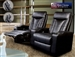 Director Theater Seating - 2 Black Leather Chairs COA-5000-2
