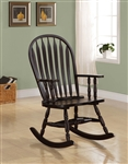 Traditional Wood Rocker in Cappuccino Finish by Coaster - 600186