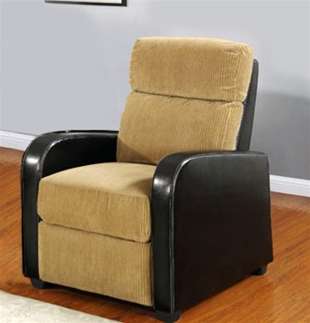 Pallas Space Saving Tan Dark Brown Theater Seating By Coaster 600193