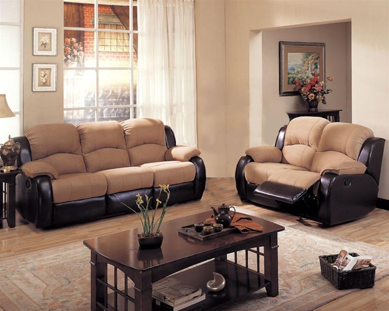 Awesome Rivera 2 Piece Sofa Set In Mocha Microfiber And Brown Leather Like Vinyl Coa 600361Set Uwap Interior Chair Design Uwaporg