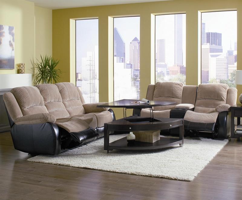 johanna tan corduroy 2 piece reclining sofa loveseat set by coaster 600362s