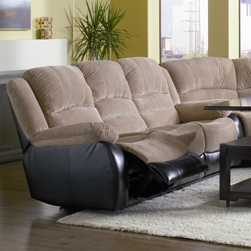 johanna tan corduroy 2 piece reclining sofa, loveseat set