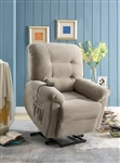 Power Lift Recliner in Taupe Chenille Upholstery by Coaster - 600399