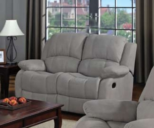 Super Reed Grey Microfiber Reclining Loveseat By Coaster 600862 Gmtry Best Dining Table And Chair Ideas Images Gmtryco