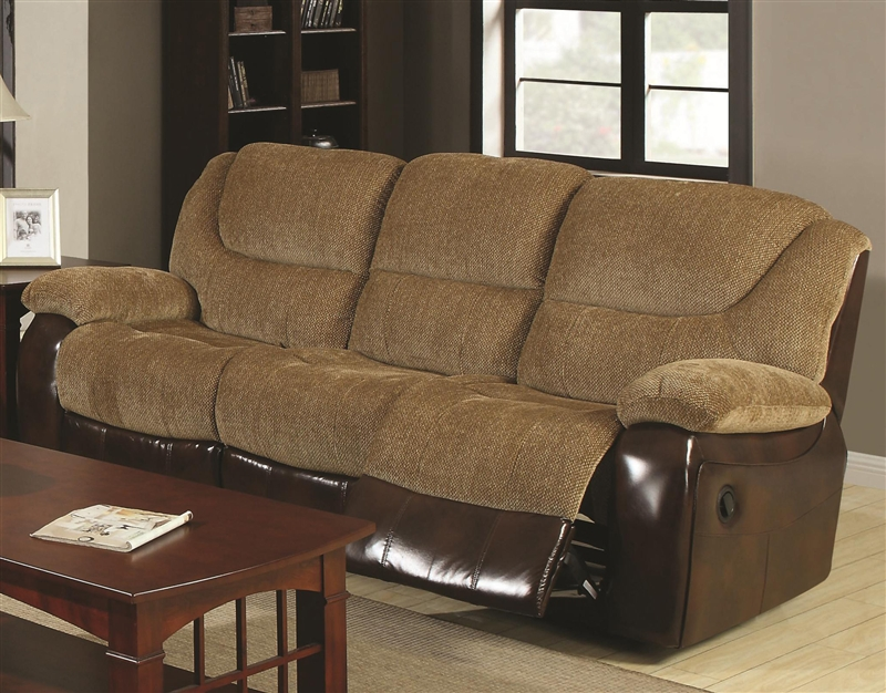 Fine Malena Reclining Sofa In Two Tone Upholstery By Coaster 600921 Short Links Chair Design For Home Short Linksinfo