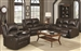 Boston Reclining 2 Piece Sofa Set in Brown Leather Like Vinyl Upholstery by Coaster - 600971S