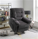 Power Lift Recliner in Grey Chenille Upholstery by Coaster - 601015