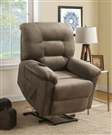 Power Lift Recliner in Brown Sugar Velvet Upholstery by Coaster - 601025