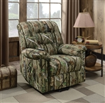 Power Lift Recliner in Camouflage Print Fabric by Coaster - 601027