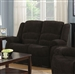 Gordon Reclining Loveseat in Dark Brown Chenille Upholstery by Coaster - 601462