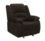 Gordon Glider Recliner in Dark Brown Chenille Upholstery by Coaster - 601463