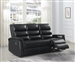 Dario Reclining Sofa in Black Performance Leatherette Upholstery by Coaster - 601514
